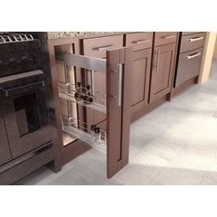 19.75 Inch Sub Side Pullout Pantry with 5 Inch Basket - Saphir Chrome