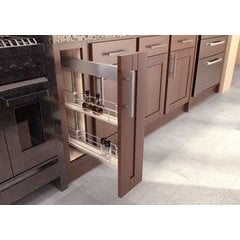 19.75 Inch Sub Side Pullout Pantry with 5 Inch Basket - Scalea Maple Silver