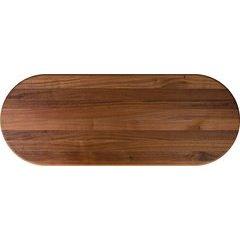 48 Inch x 42 Inch x 1-1/2 Inch Oval Butcher Block Kitchen Countertop - Walnut