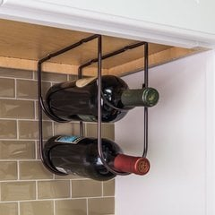 Under Cabinet Wine Bottle Rack - Brushed Oil Rubbed Bronze