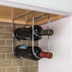Under Cabinet Wine Bottle Rack - Chrome