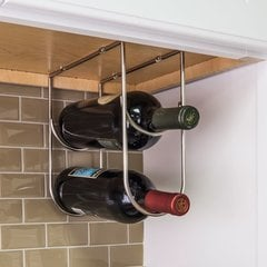 Under Cabinet Wine Bottle Rack - Satin Nickel