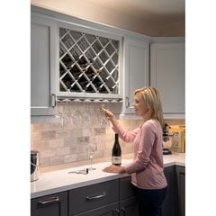 36 Inch x 48 Inch Alder Beveled Wine Lattice Rack