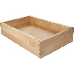 "White Birch Drawer Box - 7-7/16"" W, 3.5"" H, 16"" D for Heavy Duty Side Mount Slides"