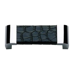 Paradigm 3 Inch Center to Center Chrome/Black Croc Cabinet Pull