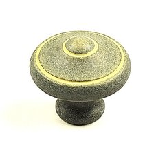 Country 1-3/16 Inch Diameter Blonde Antique Cabinet Knob