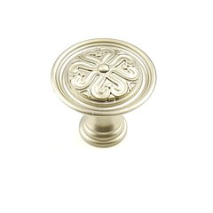 Iris 1-3/8 Inch Diameter Dull Satin Nickel Cabinet Knob
