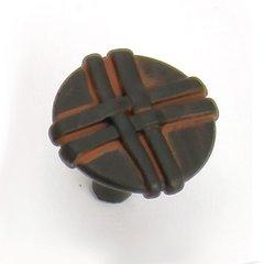 Lineage 1-3/8 Inch Diameter Black With Terra Cotta Wash Cabinet Knob <small>(#37021)</small>