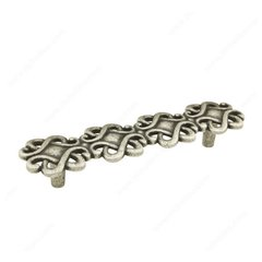 Art Deco 5-1/16 Inch Center to Center Faux Iron Cabinet Pull <small>(#308128904)</small>
