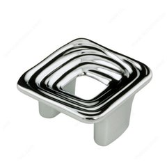 Striated 1-1/4 Inch Center to Center Chrome Cabinet Pull <small>(#160032140)</small>