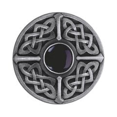 Jewel 1-3/8 Inch Diameter Antique Pewter Cabinet Knob <small>(#NHK-158-AP-O)</small>