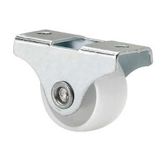 Fixed Caster - White & Zinc