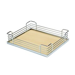 "Arena Plus Chefs Pantry Back Tray Set 14-7/8"" W Chrome/Maple"