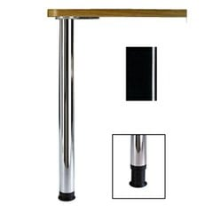 Zoom Table Leg Set Black Gloss 27-3/4 inch H