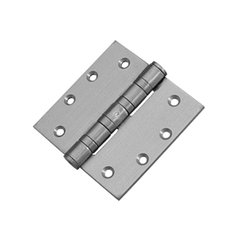 Mort. Heavy Ball Bearing Hinge 4-1/2 inch x 4-1/2 inch Satin Stainless Steel
