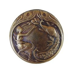 All Creatures 1-3/8 Inch Diameter Antique Brass Cabinet Knob