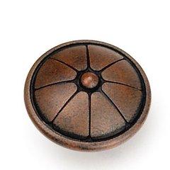 Kama 1-1/2 Inch Diameter Rust Cabinet Knob
