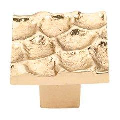 Cobblestone 1-3/8 Inch Diameter Brass Cabinet Knob <small>(#TK301BR)</small>