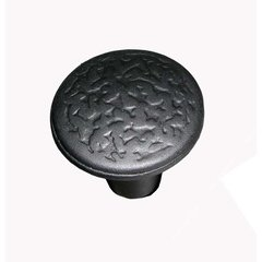Rough Iron 1 Inch Diameter Black Iron Cabinet Knob