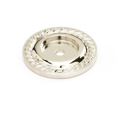 Montcalm Forged Solid Brass 1-1/2 Inch Diameter Polished Nickel Back-plate