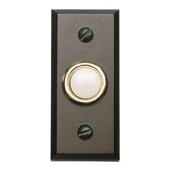 Mission Lighted Doorbell Button Aged Bronze <small>(#DB644-O)</small>