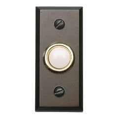 Mission Lighted Doorbell Button Aged Bronze
