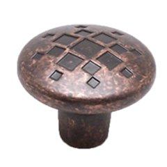 Overture 1-5/16 Inch Diameter Rustic Copper Cabinet Knob <small>(#7117-1RC-C)</small>