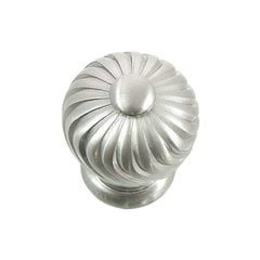 French Twist 1-1/4 Inch Diameter Satin Nickel Cabinet Knob <small>(#83928)</small>