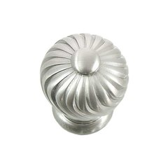 French Twist 1-1/4 Inch Diameter Satin Nickel Cabinet Knob