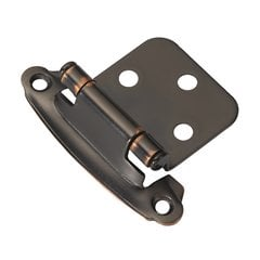 Variable Overlay Hinge Pair Oil Rubbed Bronze Self Close