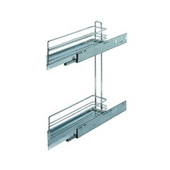 2 Tier Base Pullout 45 Degree Left Swing Chrome