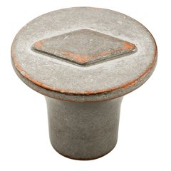 Vasari 1-3/16 Inch Diameter Weathered Nickel Copper Cabinet Knob <small>(#BP24006WNC)</small>