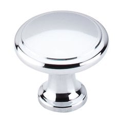 Nouveau 1-1/8 Inch Diameter Polished Chrome Cabinet Knob