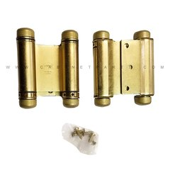 "3023-3 3"" Double Acting Half Surface Spring Hinge-Brass <small>(#3023-3-633)</small>"
