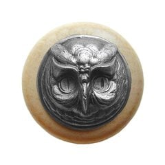 Great Outdoors 1-1/2 Inch Diameter Antique Pewter Cabinet Knob <small>(#NHW-711N-AP)</small>