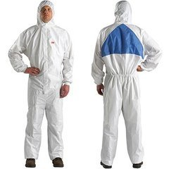 3M 4540+ Large Size Protective Coveralls White