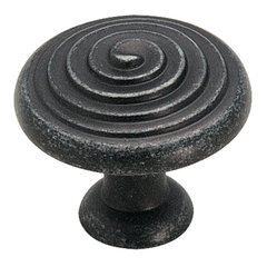 Divinity 1-1/4 Inch Diameter Wrought Iron Dark Cabinet Knob