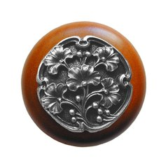 Leaves 1-1/2 Inch Diameter Antique Pewter Cabinet Knob <small>(#NHW-702C-AP)</small>