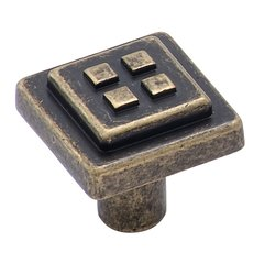 Forgings 1-1/8 Inch Diameter Weathered Brass Cabinet Knob
