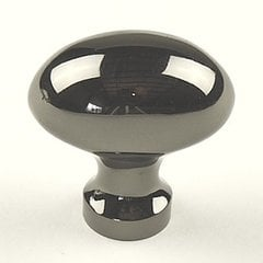 Elite 1-1/4 Inch Diameter Black Nickel Cabinet Knob