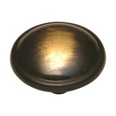 Cavalier 1-1/4 Inch Diameter Antique Brass Cabinet Knob <small>(#P203-AB)</small>