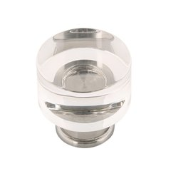 Midway Knob 1-1/4 inch Diameter Crysacrylic with Chrome