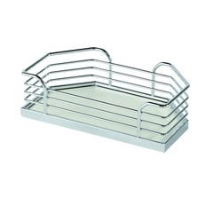 "Arena Plus Chefs Pantry Door Tray Set 14-1/8"" W Chrome/White"
