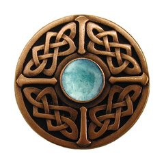 Jewel 1-3/8 Inch Diameter Antique Copper Cabinet Knob