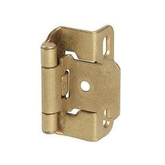 Partial Wrap 1/2 inch Overlay Hinge Burnished Brass -Per Pair