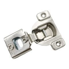 Compact 38N Hinge and Mounting Plate 3/4 inch Overlay