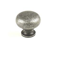 Hartford 1-1/4 Inch Diameter Aged Silver Cabinet Knob
