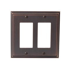 Mulholland Two Rocker Wall Plate Oil Rubbed Bronze <small>(#BP36519ORB)</small>