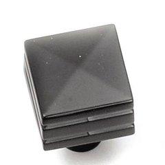 Kama 7/8 Inch Diameter Matte Black Cabinet Knob <small>(#23220)</small>