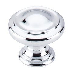 Nouveau III 1-1/8 Inch Diameter Polished Chrome Cabinet Knob <small>(#M1118)</small>